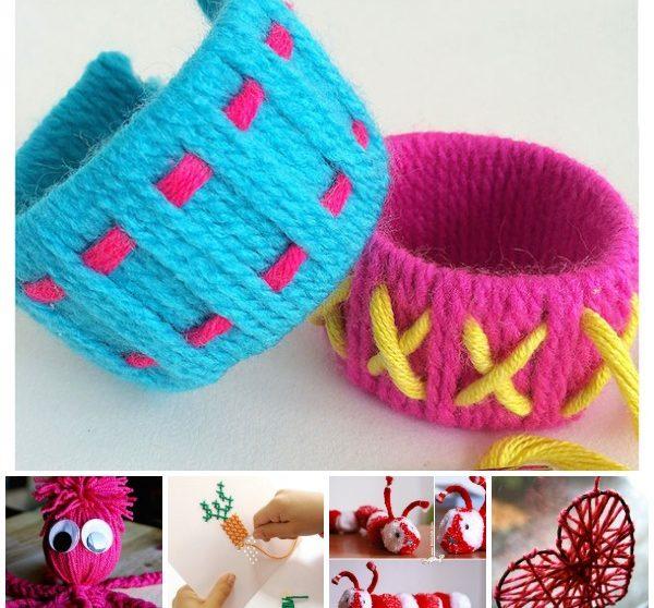 8c5827878285 Manualidades con lana divertidas y originales | Pequeocio.com