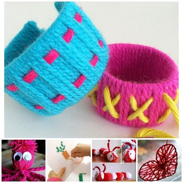 Manualidades con lana divertidas y originales pequeocio - Como hacer manualidades con lana ...