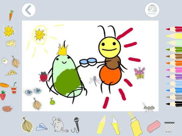 App infantil cuento interactivo actividades