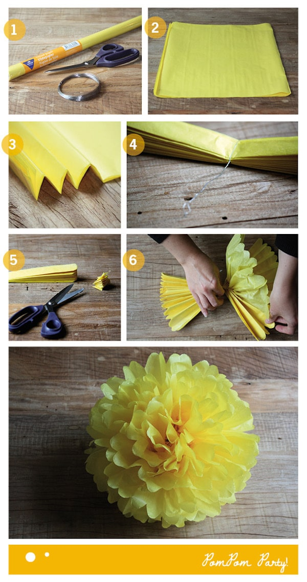 Tutorial para hacer pompones de papel