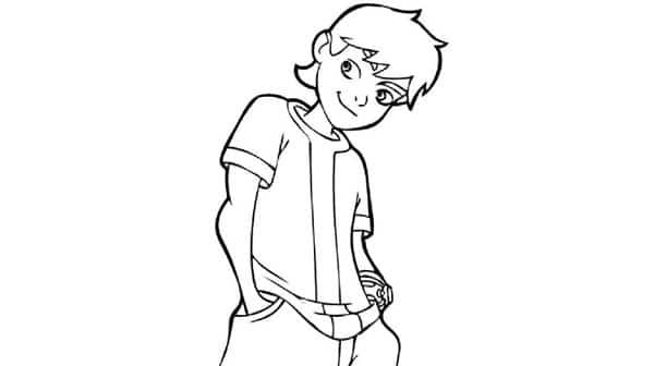 Dibujos para colorear gratis de Ben 10