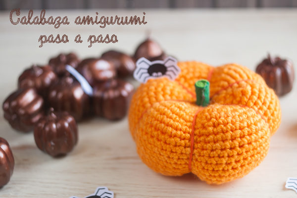 Calabaza de Halloween de ganchillo