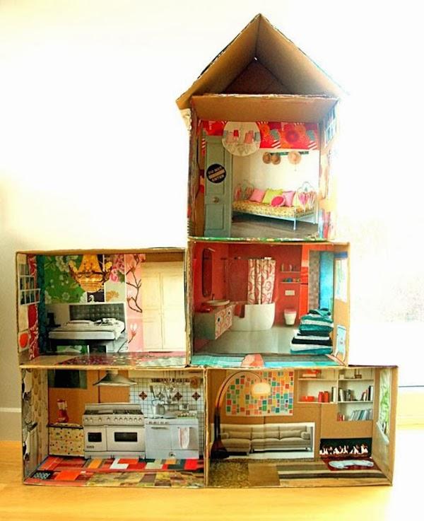 6 manualidades recicladas para jugar pequeocio - Manualidades para la casa recicladas ...