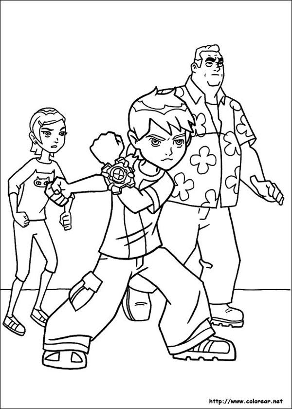 Dibujos para colorear de ben 10 pequeocio for Immagini di ben ten da colorare