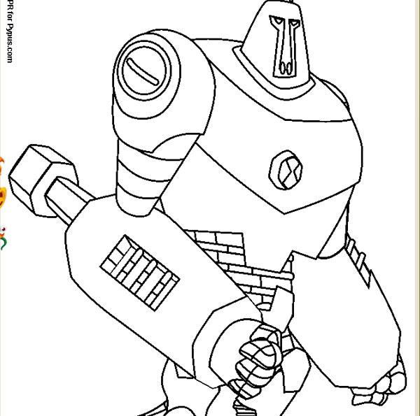 Dibujos para colorear de Ben 10  Pequeocio