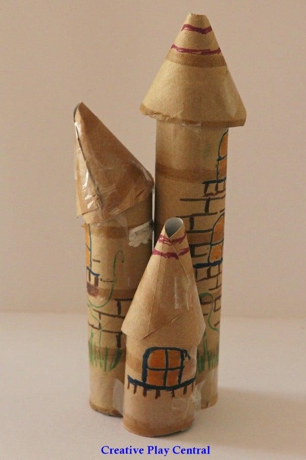 para nios con rollos de papel esculturas