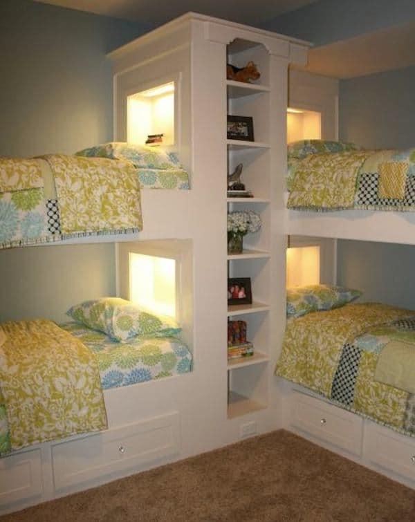 Ganar espacio en dormitorios pequeños