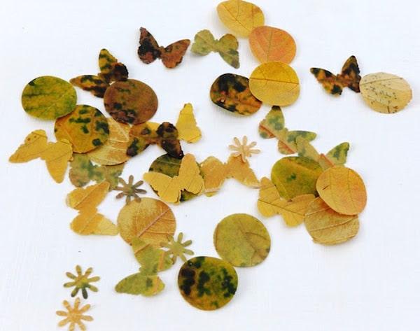 Manualidades para ni os con materiales de oto o pequeocio for Decoracion con hojas secas