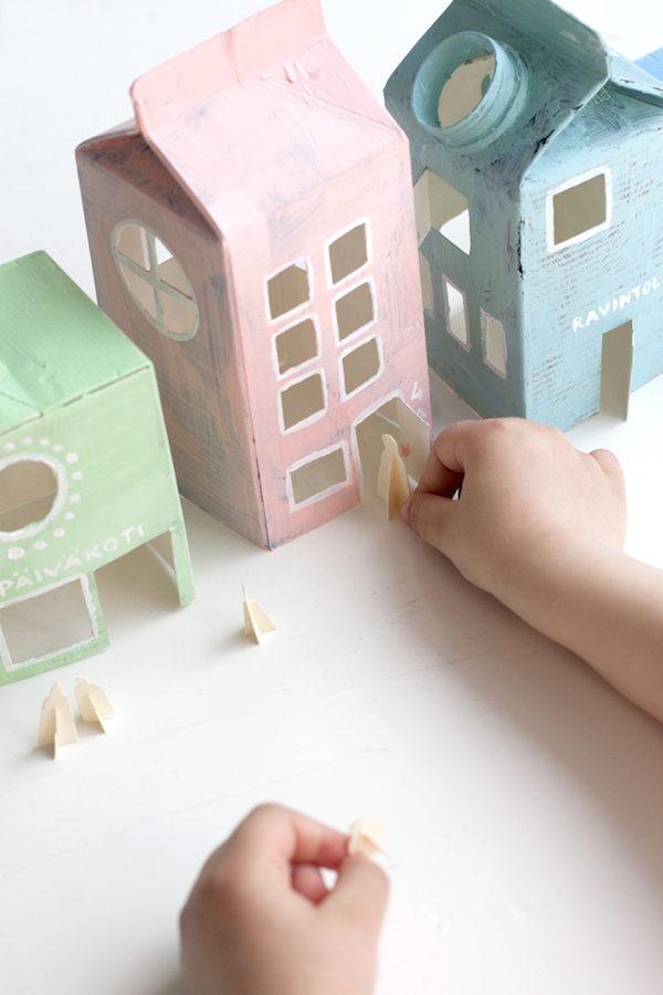 manualidades recicladas con cartones de leche - Manualidades Recicladas