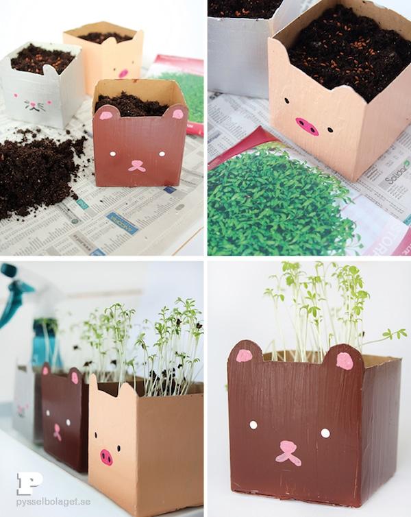 Manualidades recicladas con cartones de leche pequeocio - Manualidades infantiles recicladas ...