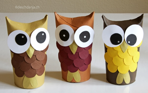 5 manualidades f ciles con rollos de papel higi nico - Papel decorado para manualidades ...
