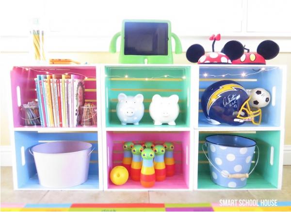 Muebles reciclados con cajas de fruta pequeocio - Cajas de fruta ...