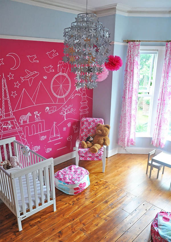 Playroom Wall Ideas Chalk Board
