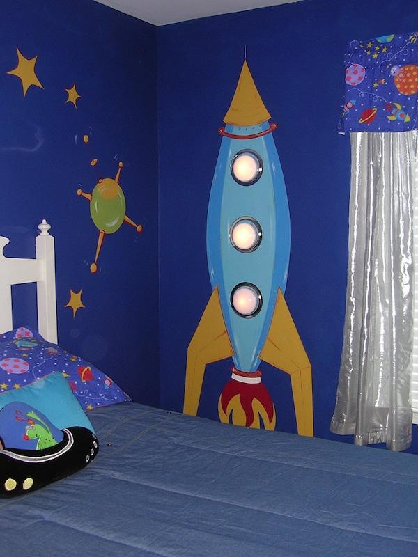 9 murales infantiles muy originales pequeocio for Vintage outer space decor