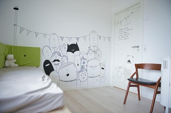 9 murales infantiles muy originales pequeocio - Habitaciones infantiles originales ...