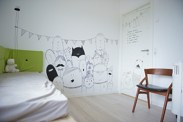 9 murales infantiles muy originales pequeocio - Paredes pintadas infantiles ...