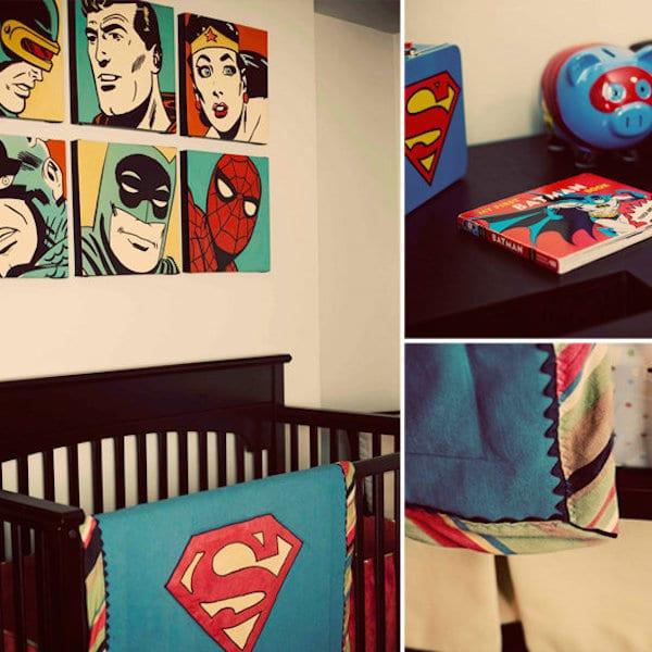 habitaciones infantiles de superh roes