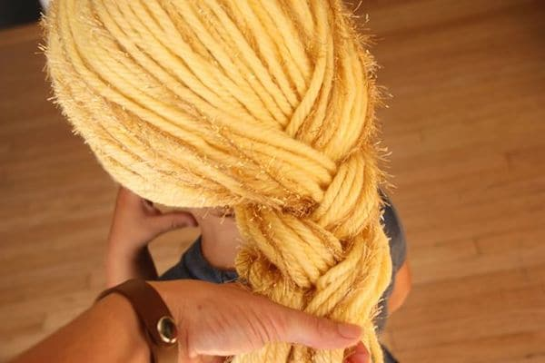 como hacer una peluca de lana
