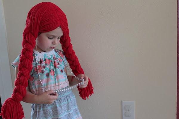 disfraces infantiles c mo hacer una peluca de lana