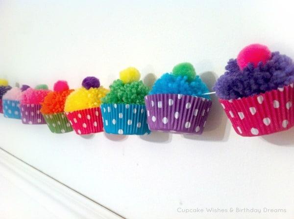 Manualidades con pompones de lana