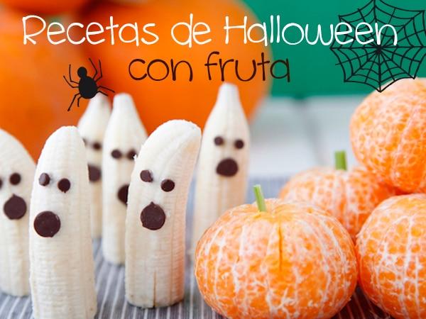 Recetas de Halloween con fruta