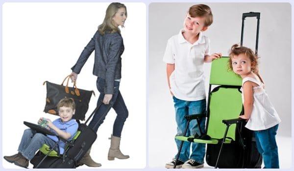 Viajar con niños: silla infantil para maletas