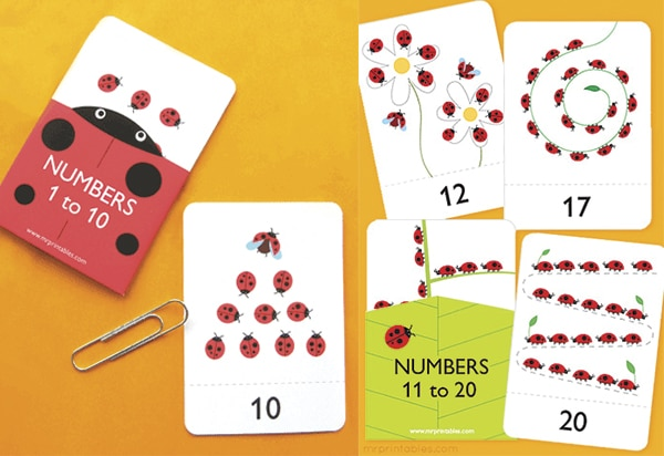 Tarjetas para imprimir para aprender los números