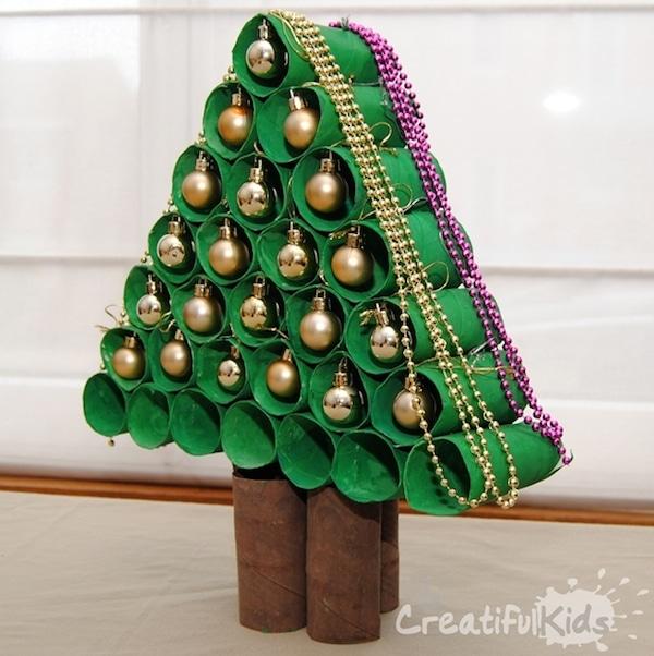 7 manualidades navide as con rollos de papel pequeocio - Manualidades de ganchillo para navidad ...