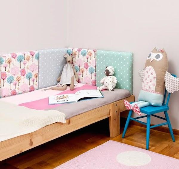cabeceros de cama originales con cojines