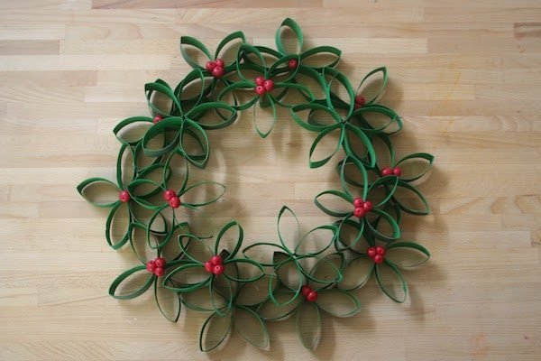 Coronas de Navidad fáciles