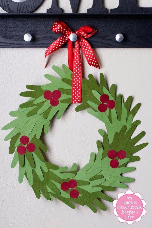Adornos de Navidad 5 coronas navideas fciles Pequeocio