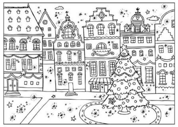 5 simp ticos dibujos de navidad para colorear pequeocio - Dibujos para una postal de navidad ...