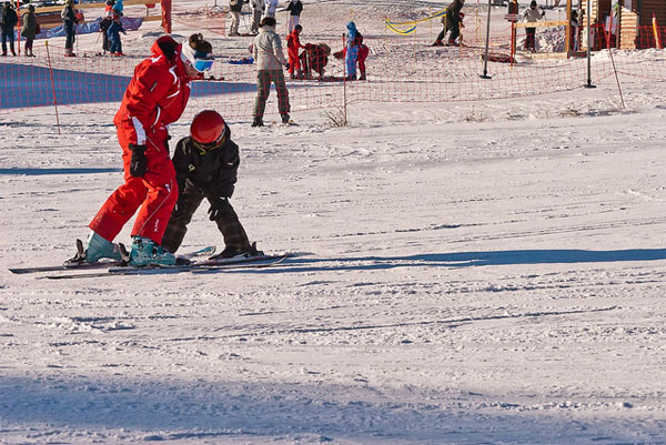 Estaciones de esquí en España, con niños