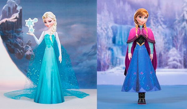 Princesas Disney, muñecas recortables