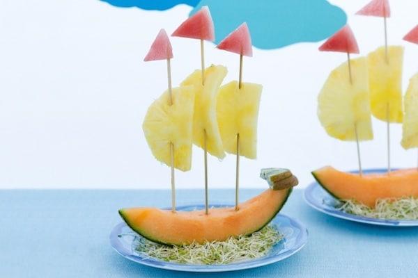Recetas Sencillas Para Ninos Fruta Divertida Pequeociocom - Manualidades-con-frutas-para-nios