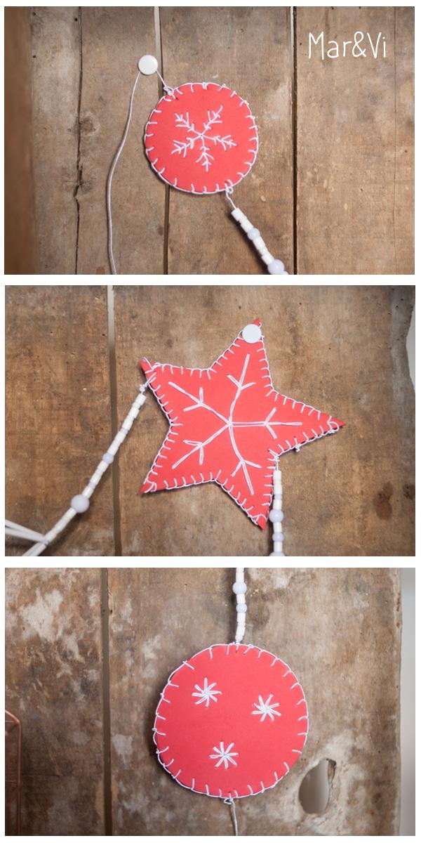 Guirnalda de Navidad de goma Eva - Pequeocio