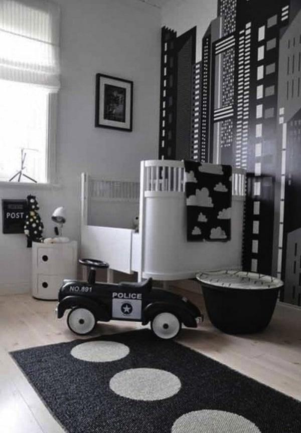 Habitaciones infantiles monocromáticas