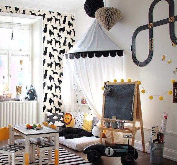 10 Habitaciones Infantiles En Blanco Y Negro Pequeociocom - Habitaciones-infantiles-en-blanco