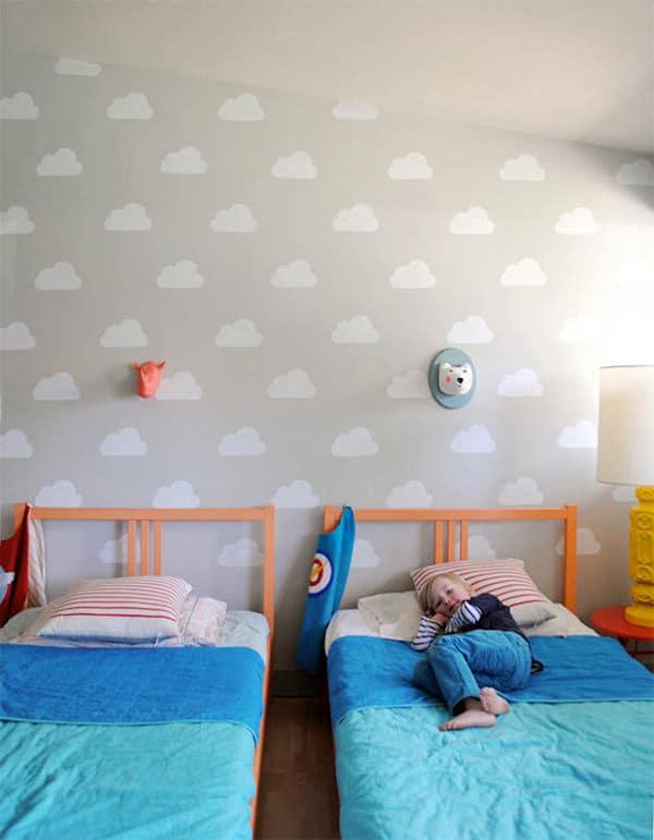 Habitaciones infantiles decoramos con nubes pequeocio - Pintura habitaciones infantiles ...