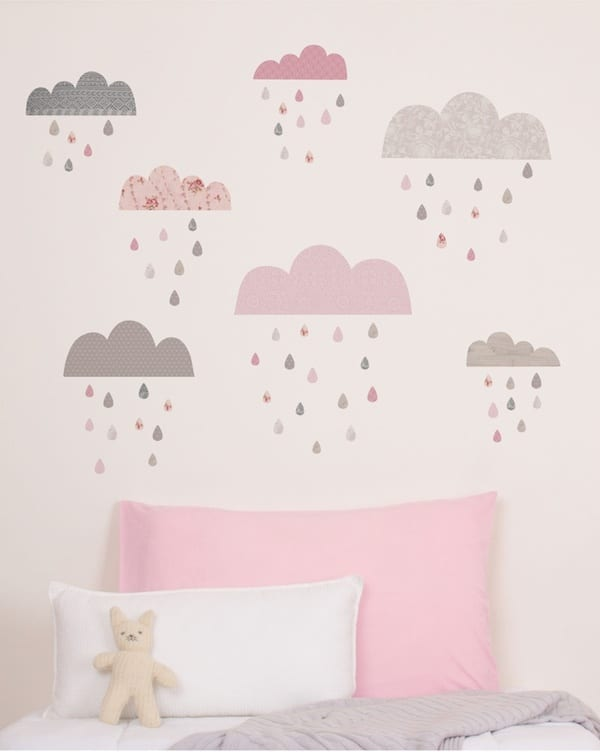 habitaciones infantiles decoramos con nubes pequeocio