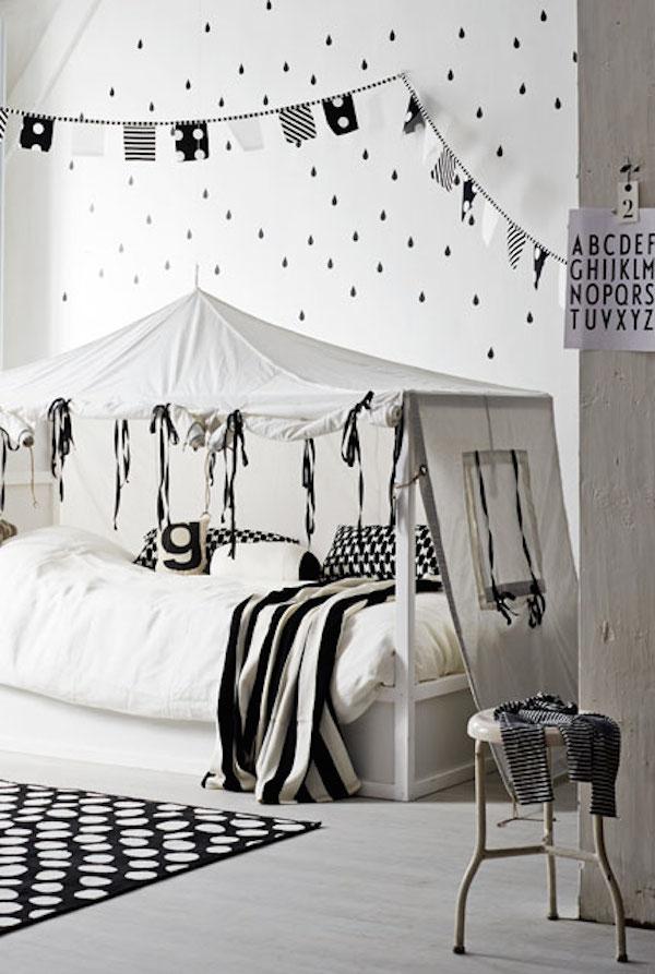 10 habitaciones infantiles en blanco y negro pequeocio for Cuarto negro con gris