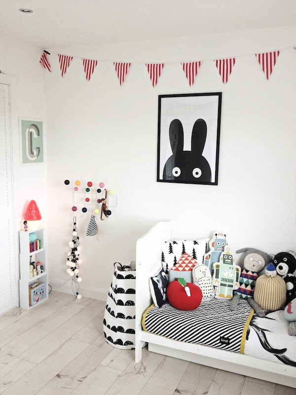 10 habitaciones infantiles en blanco y negro pequeocio - Habitaciones en blanco ...