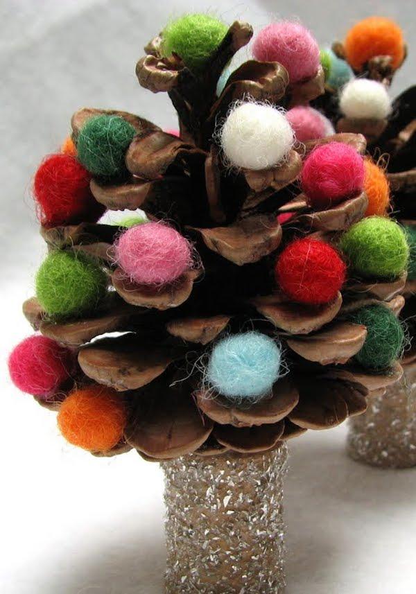 Manualidades navide as usamos pi as pequeocio - Manualidades navidad con pinas ...