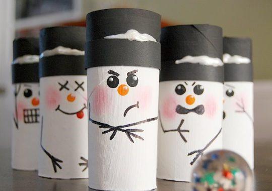 Manualidades navideñas con rollos
