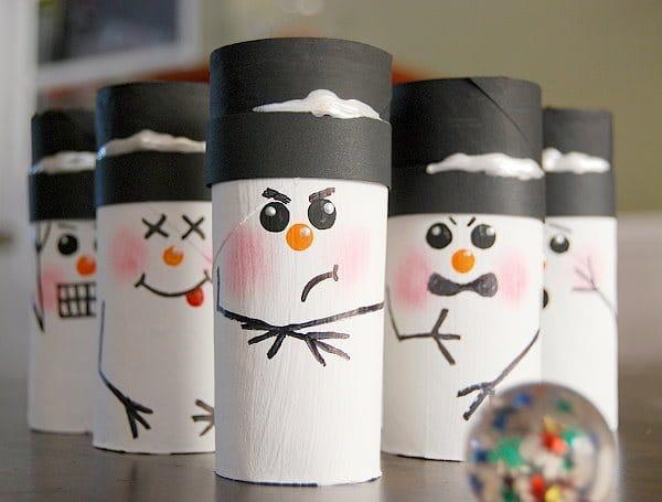 7 manualidades navide as con rollos de papel pequeocio - Manualidades munecos de navidad ...