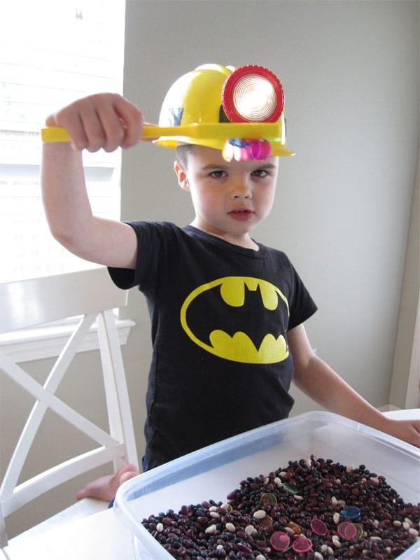Experimentos infantiles, mina de magnetos