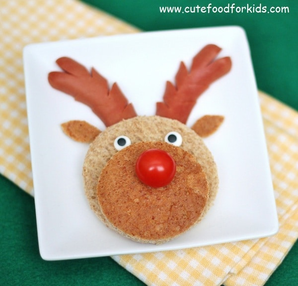 recetas de navidad para nios sndwich reno
