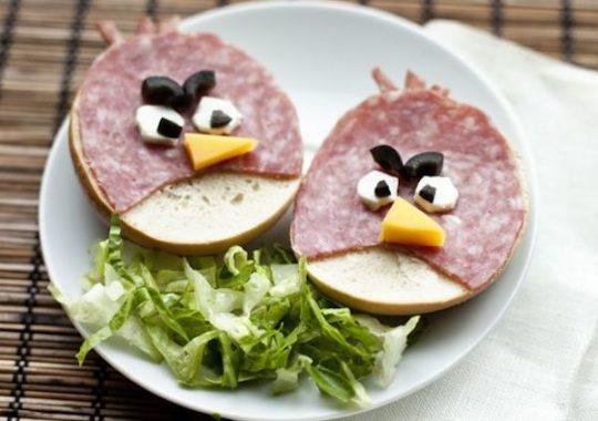 Recetas para niños de Angry Birds