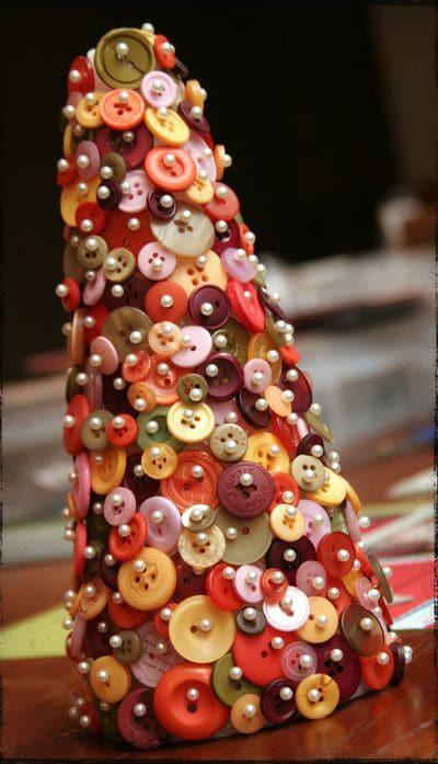 arboles de Navidad originales con botones