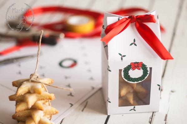 Caja para galletas de Navidad